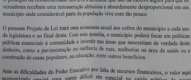 Para moradores, economia com o salários deve ser invesida em prol da sociedade (Foto: Reprodução)