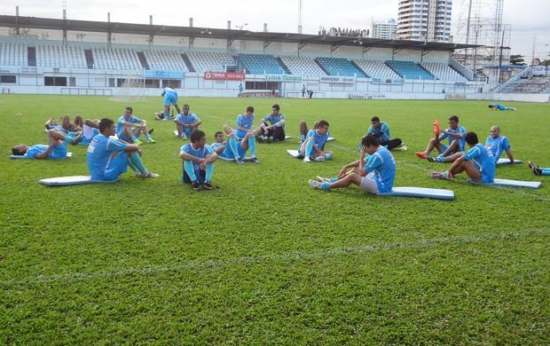 Paysandu em treino físico (Foto: GLOBOESPORTE.COM/PA)