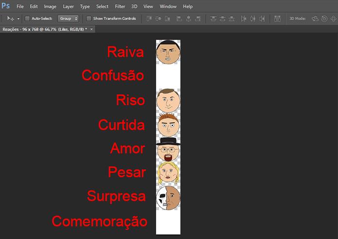 Posicione as imagens na ordem, incluindo Confusão e Comemoração, que podem ficar em branco (Foto: Reprodução/Paulo Alves)
