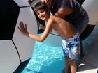 Henri Castelli posta foto com o filho mais velho e fala de Isabelli Fontana