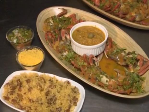 O caranguejo é um dos pratos mais solicitados na orla (Foto: Reprodução / TV Mirante)