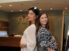 Grávidas, Ana Paula Tabalipa e Joana Balaguer dão dicas de beleza
