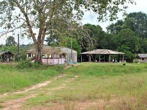 Aldeia dos índios Tenharim, em Humaitá, no Sul do Amazonas (Foto: Larissa Matarésio/G1 AM)