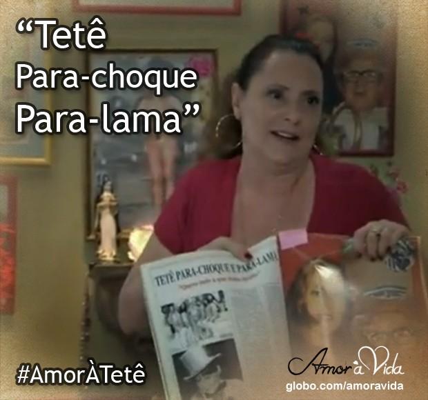 Tetê Para-choque Para-lama (Foto: Amor à Vida / TV Globo)