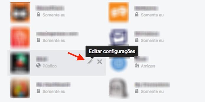 Acesso para configurações de um aplicativo ou jogo vinculado a uma conta do Facebook (Foto: Reprodução/Marvin Costa)