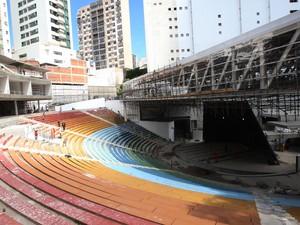 Obras na Concha Acústica (Foto: Alberto Coutinho/Divulgação)