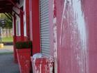 Sede do PT em Joinville, SC, tem fachada vandalizada