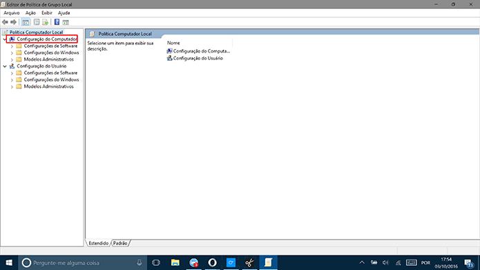 Clique em Configurações do Computador para começar a desativar o Windows Ink (Foto: Reprodução/Elson de Souza)