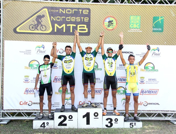 Copa Nordeste de Moutain Bike - Pódio da categoria Elite (Foto: Anderson Brito)