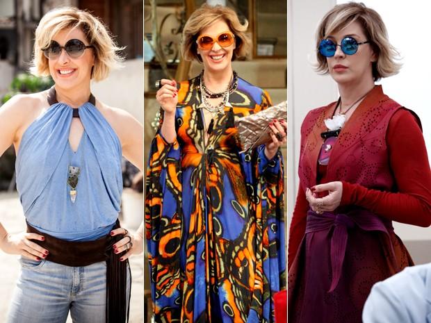 Extravagância marca os looks de Samantha (Foto: Raphael Dias/ Carol Caminha/ Fabio Rocha/ Gshow)