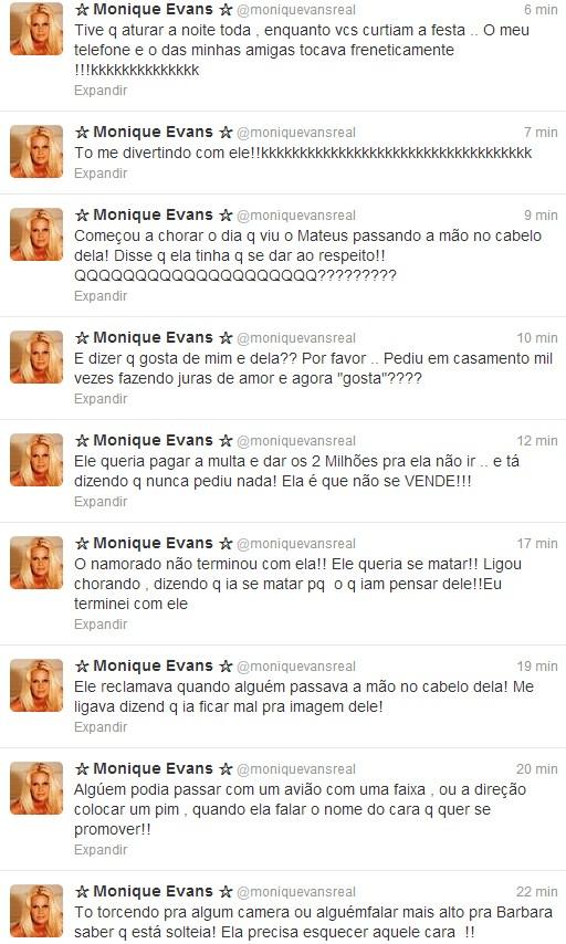 Monique Evans (Foto: Reprodução / Twitter)