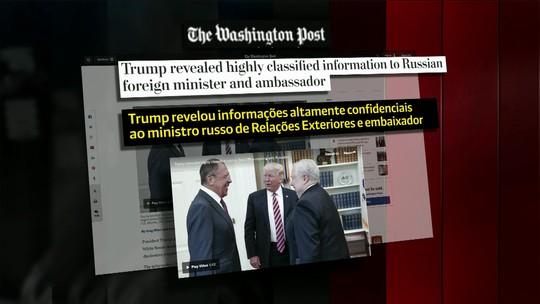 Trump revelou informações secretas a ministro e embaixador da Rússia, diz jornal
