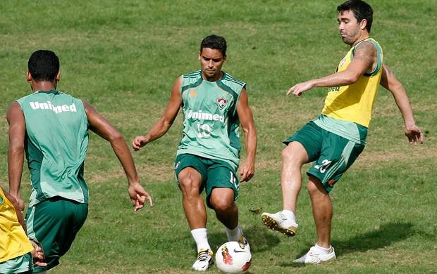 Jean e Deco do Fluminense (Foto: Dhavid Normando / Photocamera)