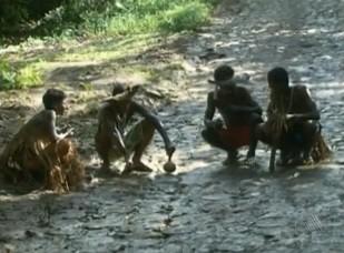 Índios ocupam área de fazendas no sul da Bahia (Foto: Reprodução/TV Bahia)