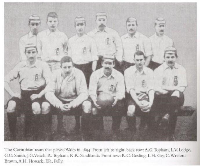 Corinthian Casuals, time que representou a Inglaterra em amistosos nos anos de 1894 e 1895 (Foto: Divulgação)