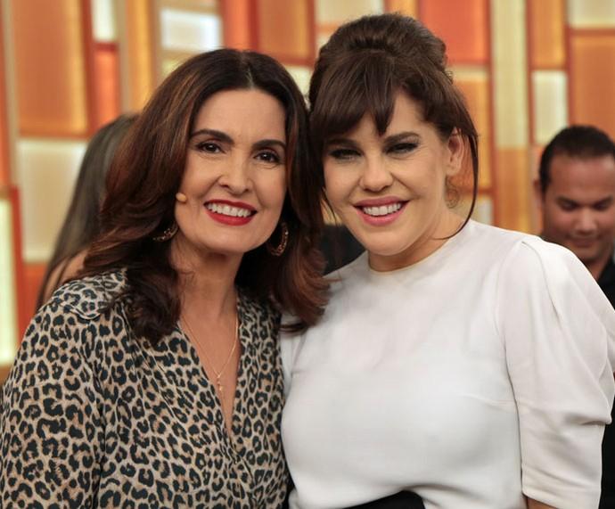 Fátima posa ao lado da atriz Bárbara Paz (Foto: Isabella Pinheiro/Gshow)