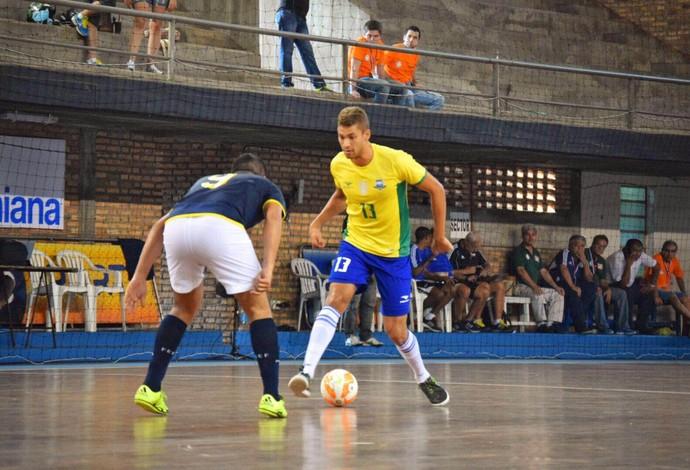 Pito Brasil Equador Eliminatórias Mundial de Futsal (Foto: Luis Domingues/CBFS)