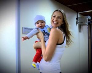 Luana Piovani e o filho Dom (Foto: Domingão do Faustão / TV Globo)
