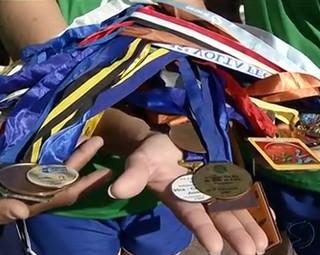 Equipe de Resende tem muitas medalhas em competições regionais (Foto: Reprodução RJTV 2ª Edição)