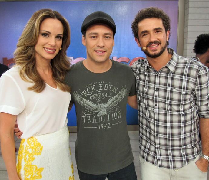 Rodrigo Andrade também foi convidado do Encontro (Foto: Priscilla Massena/Gshow)