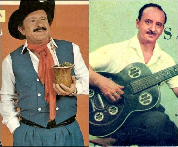 Teixeirinha e Túlio Piva são os homenageados do Galpão Crioulo (Foto: Montagem sobre fotos/Reprodução)