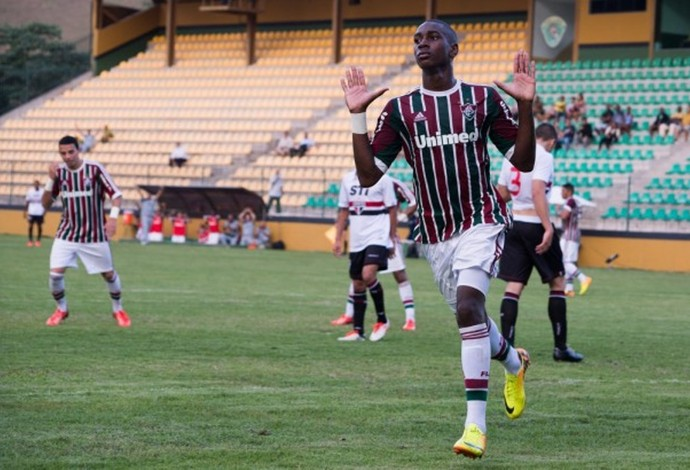 Gerson, meia do time juvenil do Fluminense (Foto: Bruno Haddad/Fluminense F.C)