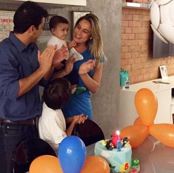 Fernanda e Matheus: o divórcio não separou a família (Foto: Reprodução - Instagram)