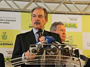 Ministro da Educação Aloizio Mercadante  (Foto: Jamile Alves/ G1 AM)