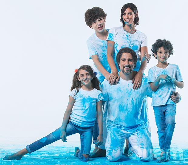 Marcos Mion e família (Foto: Marco Pinto/ Ed. Globo)