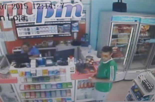 Imagens de câmeras ajudaram a polícia a encontrar o suspeito (Foto: Reprodução)