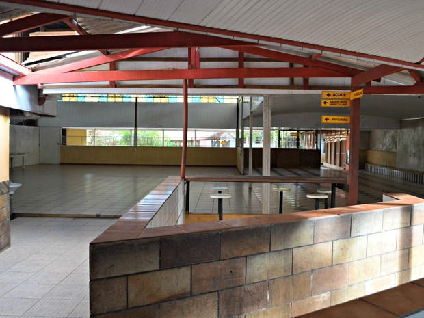Abrigo na Chácara Aliança é ocupado por imigrantes desde 2006 (Foto: Aline Nascimento/G1)