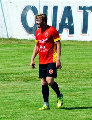 """Rudimar """"Alemão"""" fez um dos gols da virada, chegou a cinco na competição e é o artilheiro do Tricordiano (Foto: Régis Melo)"""