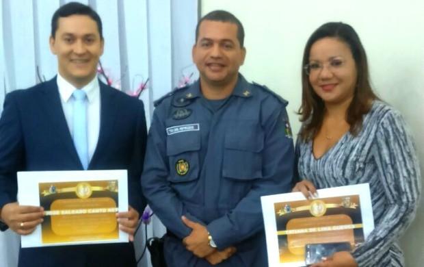 Apresentadores Salgado Neto e Tatiana Guedes foram homenageados (Foto: Tatiana Guedes/Arquivo Pessoal)