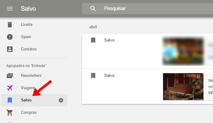 Salve links para visualizar no Inbox (Foto: Reprodução/Paulo Alves)