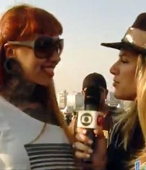 DESAFIO G1: Giovanna Ewbank mostra tatuagens do público (Reprodução)