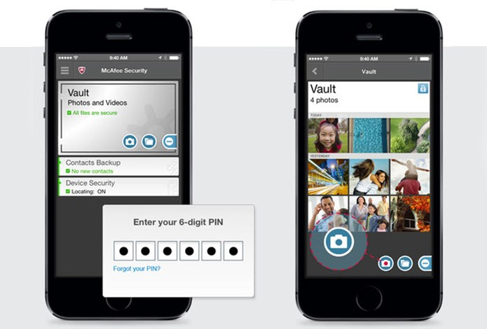 McAfee Mobile Security cria um cofre para seus arquivos (Foto: Divulgação/McAfee)