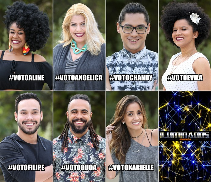 Time de finalistas do 'Iluminados' (Foto: Carol Caminha/Gshow)