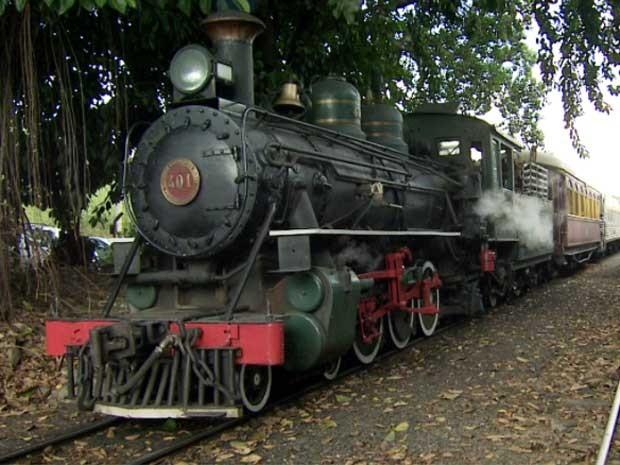 Cerca de mil pessoas visitam a Maria Fumaça este fim de semana em Campinas (Foto: Reprodução EPTV)