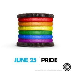 O biscoito do orgulho gay (Foto: Oreo/Divulgação)