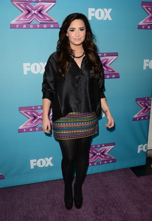 Demi Lovato recebeu US$1 milhão por sua participação em X-Factor, aos 18 anos, em 2012 (Foto: Getty Images)