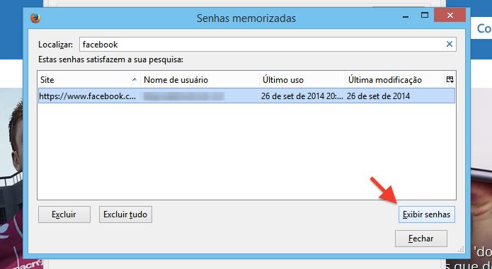 Revelando senha salva pelo navegador (Foto: Reprodução/Helito Bijora)