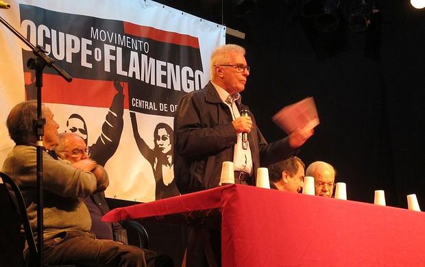 Marcio Braga, Reunião da oposição do Flamengo (Foto: Janir Júnior / Globoesporte.com)
