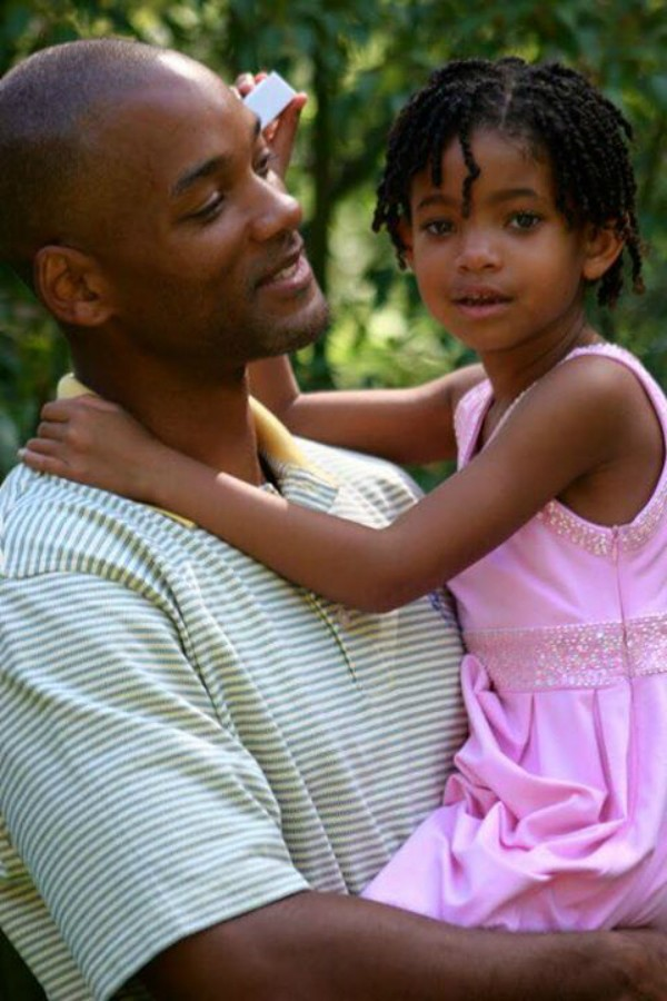 Will Smith e Willow Smith em foto publicada pelo ator em homenagem ao aniversário de 15 anos da filha (Foto: Reprodução/Facebook)