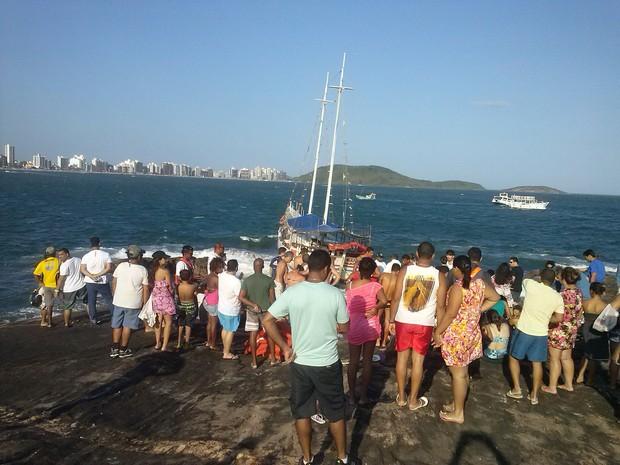 Secretaria de Segurança disse que 20 pessoas se feriram em Guarapari, espírito santo. (Foto: Bruno Muniz/ VC no ESTV)