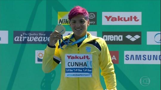 Após show no Mundial, objetivos de Ana Marcela são Olimpíada e Canal da Mancha
