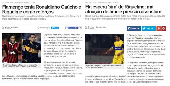 Riquelme no Flamengo prints (Foto: Reprodução)
