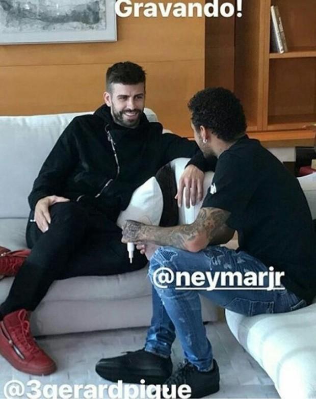 Gerard Piqué e Neymar (Foto: Reprodução/Instagram)