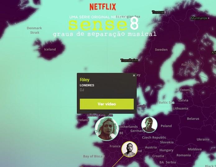 Clique nos personagens mostra vídeo (Foto: Gabriel Ribeiro/TechTudo)