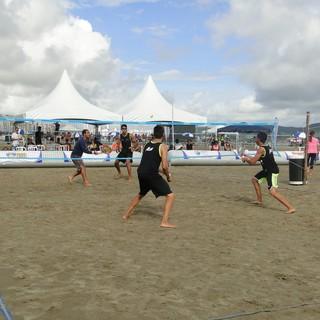 1ª etapa do Paulista Beach Tennis, em Santos (Foto: Divulgação / Juliana Molinari)