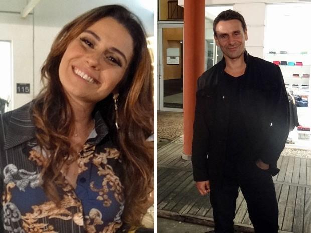 Giovanna Antonelli e Murilo Rosa posam para foto (Foto: Salve Jorge/TV Globo)